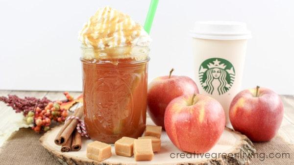Starbucks knock off caramel apple cider hot seasonal beverage