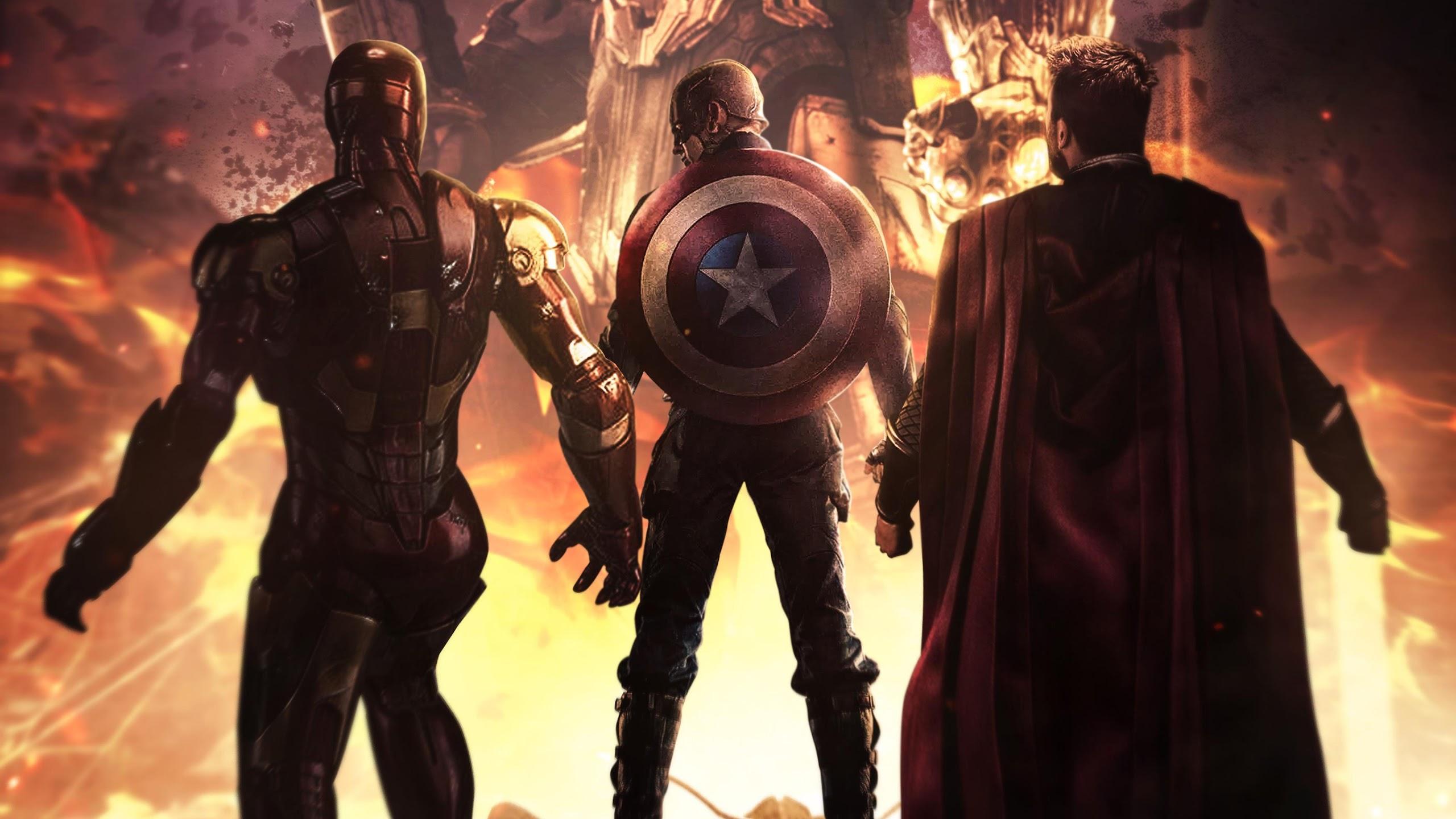 Avengers Endgame Iron Man Captain America Thor 4k Wallpaper 127