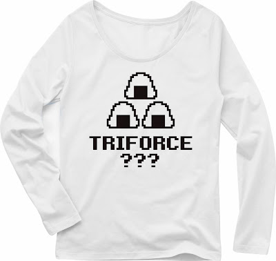 Pixel Party Boy「TRIFORCE???」[Girls Boat-neck LongTee] ボートネック・ロングスリーブTシャツ 4.3oz | T-SHIRT COUNCIL