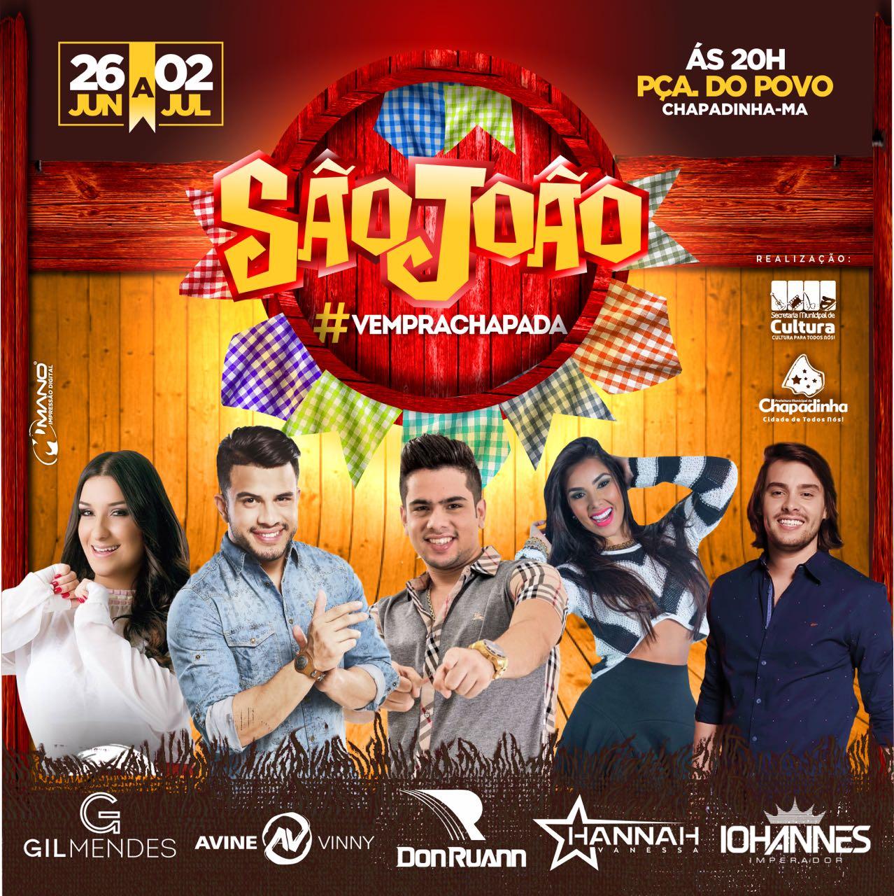 Avine Vinny, Iohanes e Gil Mendes no São João de Chapadinha 2017