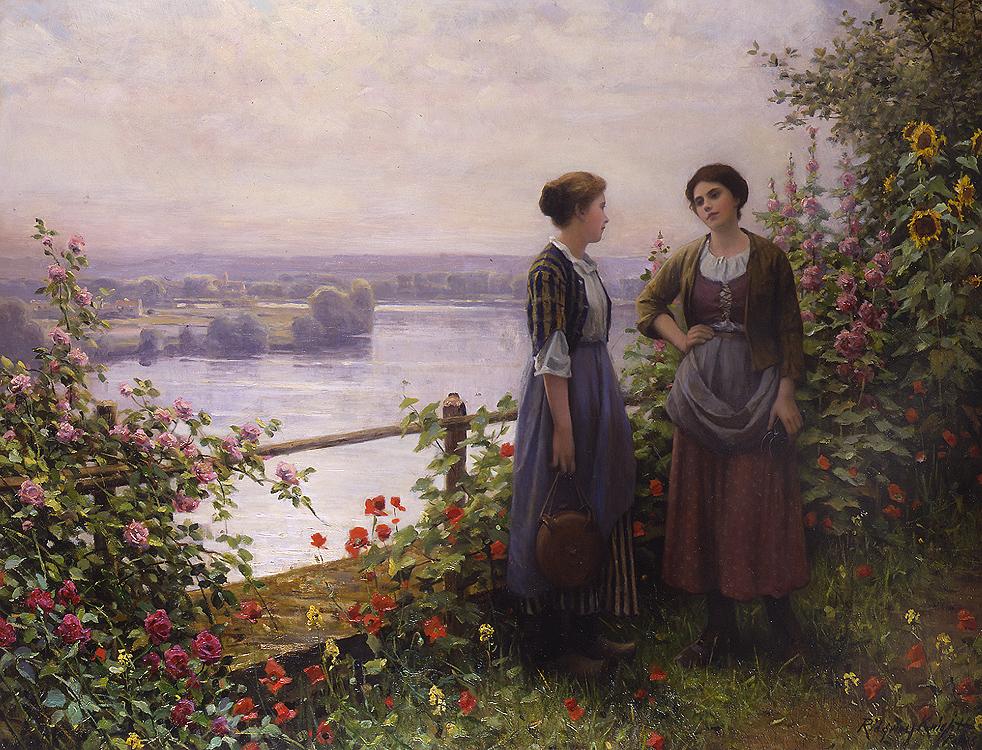 No Terraço - Daniel Ridgway Knight e suas mais belas pinturas