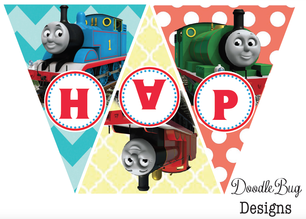 - DoodleBug Designs: Thomas The Train Birthday Banner {Free Printable}
