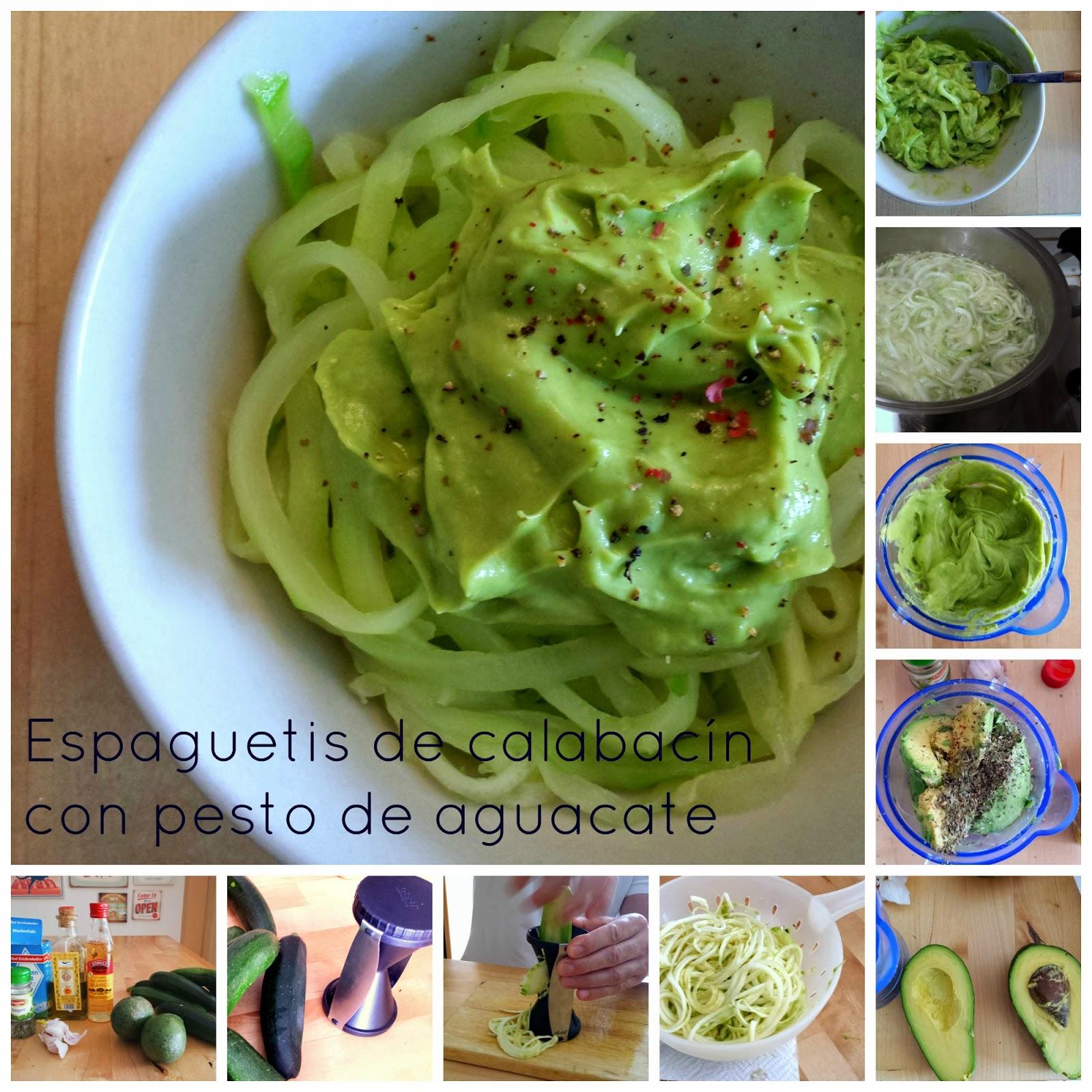 El Festín De Marga Espaguetis De Calabacín Con Pesto De Aguacate