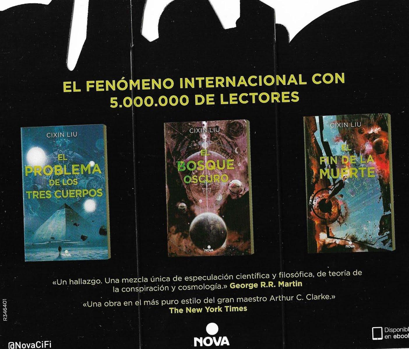 ... editar el segundo volumen de la Trilogía de los Tres Cuerpos, El Bosque  Oscuro. Si os fijáis, el trítico reproduce las tres portadas de los libros,  ...