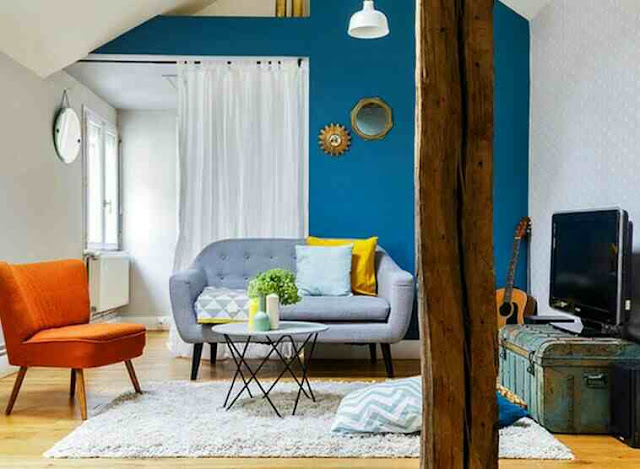 Cara Kombinasi warna cat ruang tamu kecil