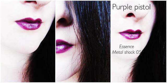 Essence Purple Pistol Metallic Lipstick