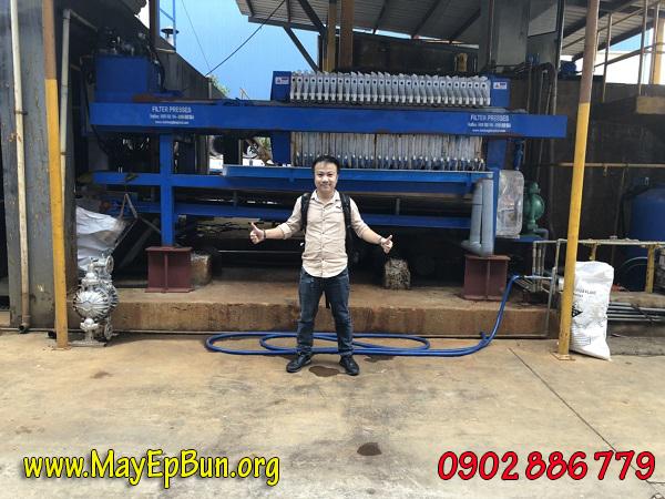 Máy ép bùn khung bản Vĩnh Phát chế tạo 100% tại Việt Nam mang đến hiệu quả cho khách hàng