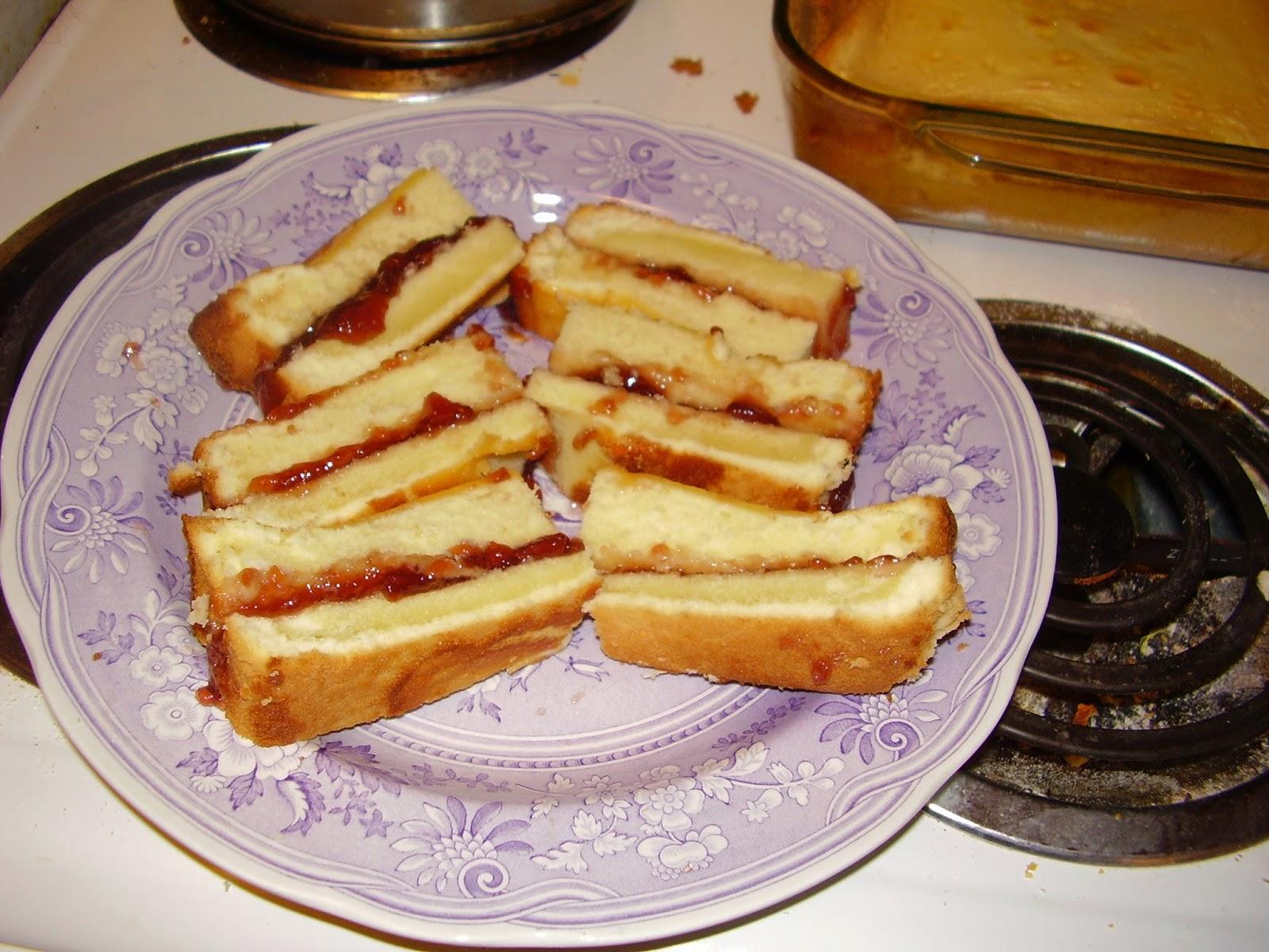 Victoria sponge cake sandwiches, 1861 recipe.