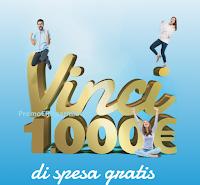 Logo ''Vinci 1.000€ di spesa gratis'' : 1.000 buoni spesa da 25€ e 10 buoni spesa da 1.000€