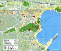 Santa Margherita Ligure Map.  Liguria, Italy.