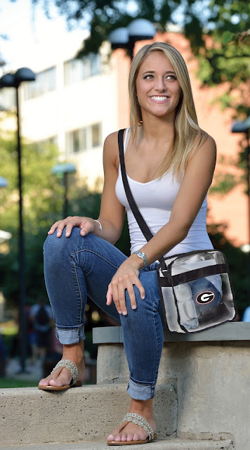 georgia bulldogs clear bag