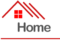 A simple logo of a house.