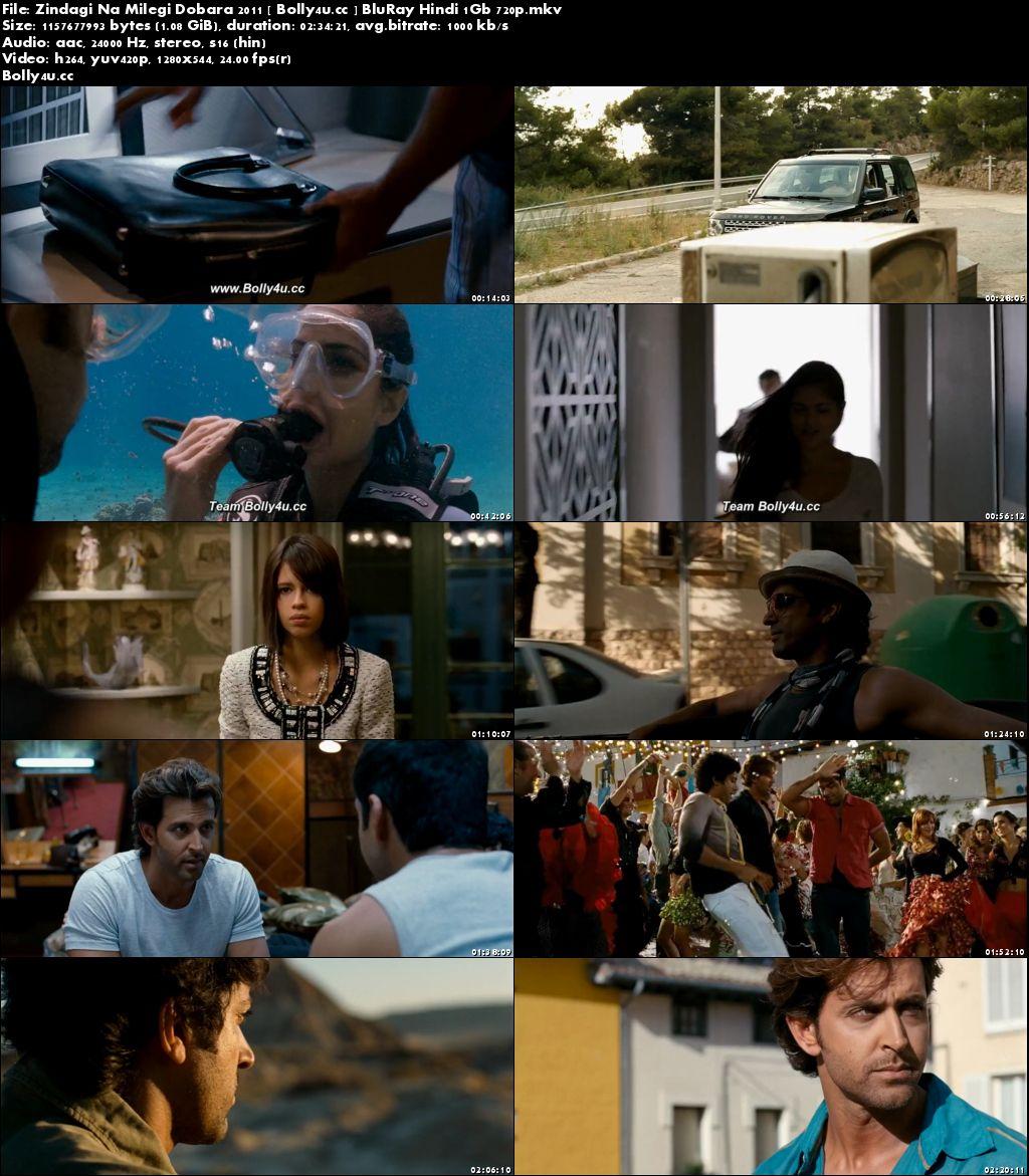 Zindagi Na Milegi Dobara 2011 BluRay 450MB Hindi 480p
