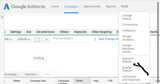 log into your google adsword account and click on tool then keywords planner