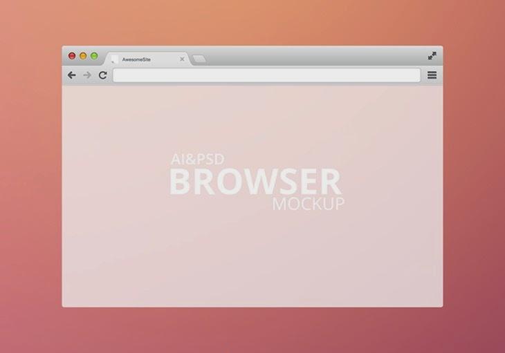 Modern Browser MockUp PSD