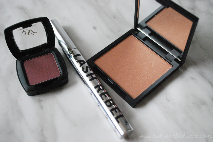 bbloggers bbloggersca sst cosmetics eyeshadow bronzer mascara swatches review makeup composed sun kissed lash rebel