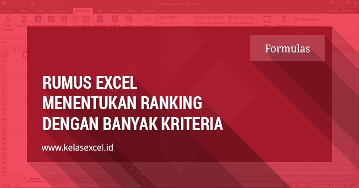 Rumus Rank dengan Banyak Kriteria Pada Microsoft Excel