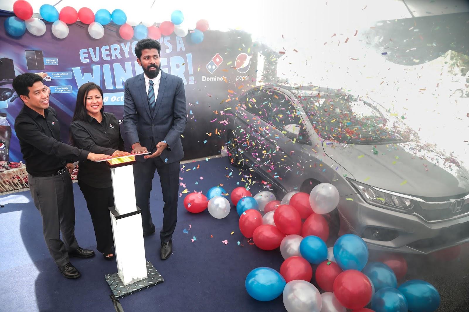 Domino's Pizza & Pepsi Black  Memberi Ganjaran dengan Hadiah Bernilai RM130,000 kepada Pelanggannya  Hadiah Utama Honda City Untuk Direbut