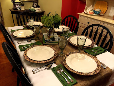 Often Ina will show how she sets her table. She always keeps it simple. Oversized flatwear a pretty napkin and simple plates. Her floral arrangement is ... & Our Neck Of The Woods: Barefoot Contessa Inspired Tablesetting