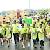 """Water Walkathon""  4500 Students participate in spite of inclement weather"