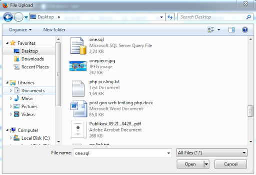 Export dan Import Database MySQL