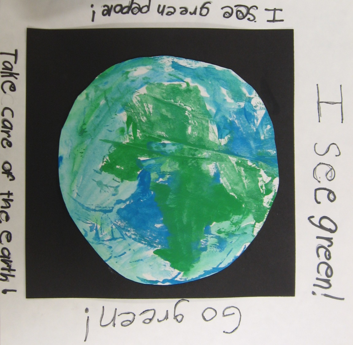 Art With Mrs Kim 2nd Grade Earth Day Monoprints