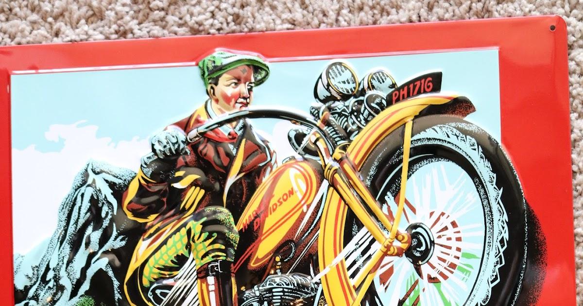 1970 Harley Davidson Evel Knievel Tribute: OldMotoDude: Harley-Davidson Tin Sign