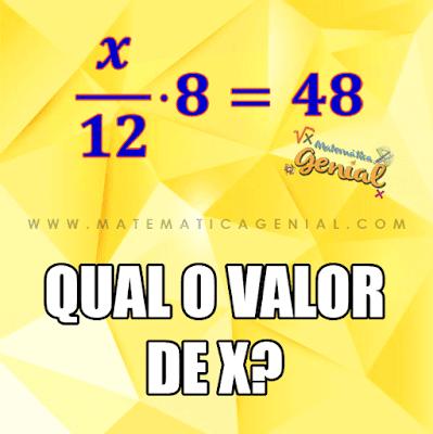 Desafio: Qual o valor de X?