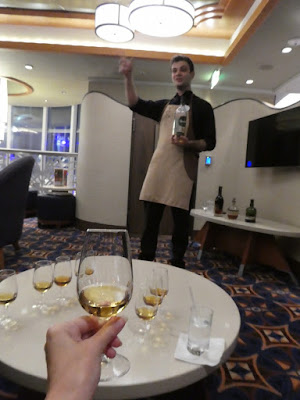Whiskey Tasting on board Disney Cruise Line's Disney Wonder