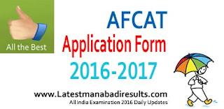 AFCAT Application Form 2016, AFCAT 2016 Online Registration, AFCAT 2016 Exam Date is 28th August 2016, AFCAT 2016 Apply Online