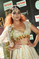 Apoorva Spicy Pics in Cream Deep Neck Choli Ghagra WOW at IIFA Utsavam Awards 2017 20.JPG