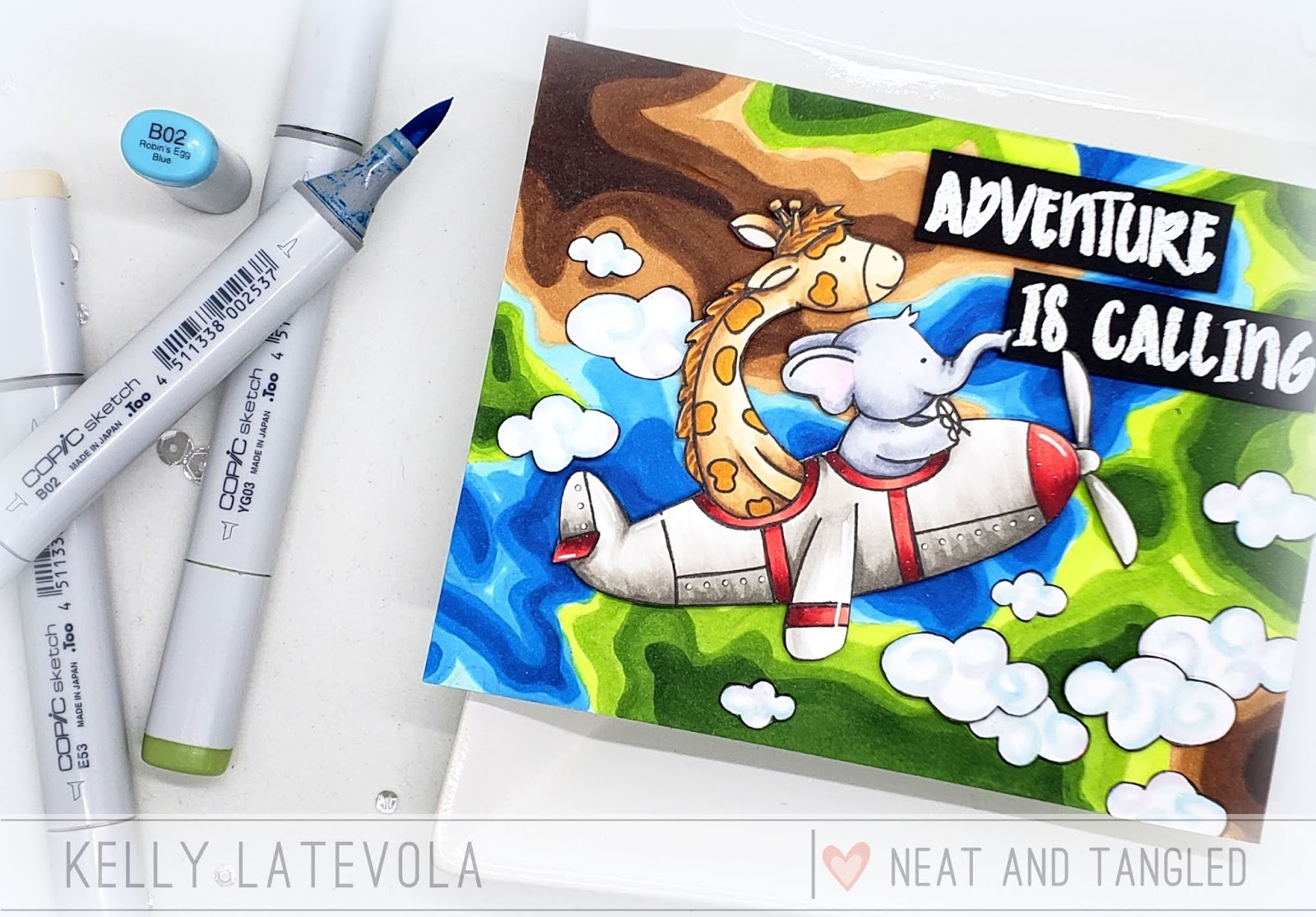 Adventure is Calling Copic Coloring with Kelly Latevola - Neat and ...