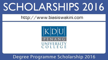 Degree Programme Scholarship 2016