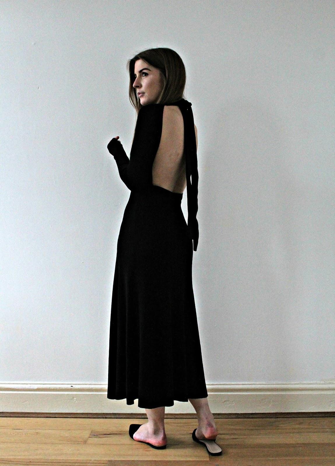 Backless Black Dress Zara 79