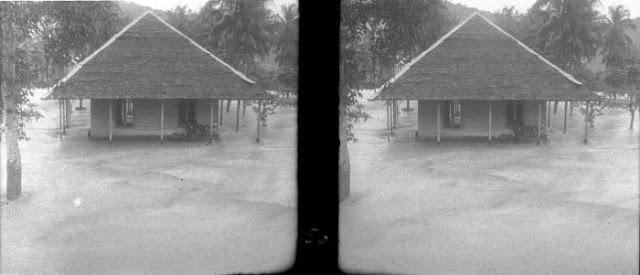 Collectie Tropenmuseum: Rumah Tradisional Sekitar Sungai Mata-Allo Kab. Enrekang (Tahun 1931)