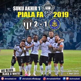 Suku Akhir 1 Piala FA 2019 : Terengganu menang 2 - 1 ke atas Pahang. Tahniah!