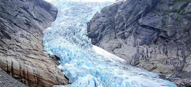 Glaciares y rocas sedimentarias