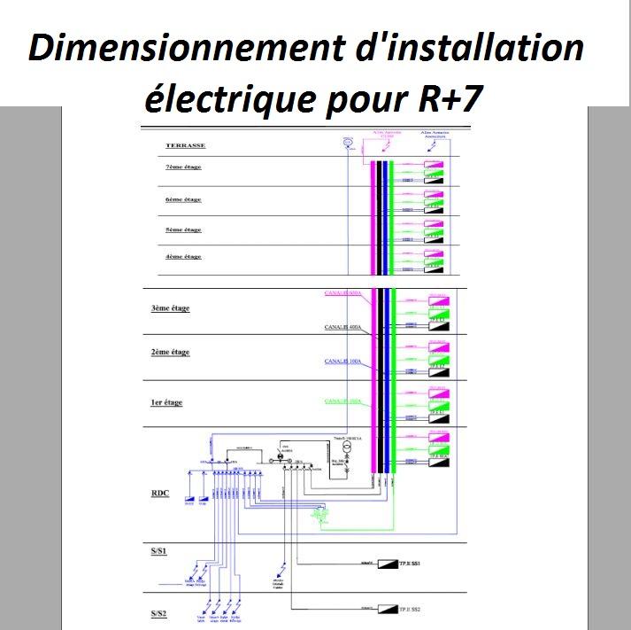 Dimensionnement De LInstallation lectrique De LImmeuble DUne