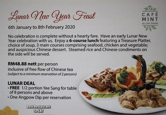 Cosmo Hotel Kuala Lumpur -Chinese New Year Menu - Lunch Set Promotion