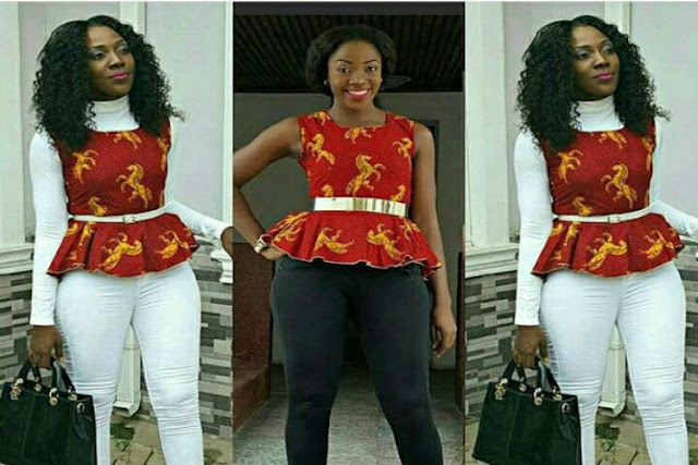 Understanding the Significance of Peplum Tops in African Printed Fashion trend