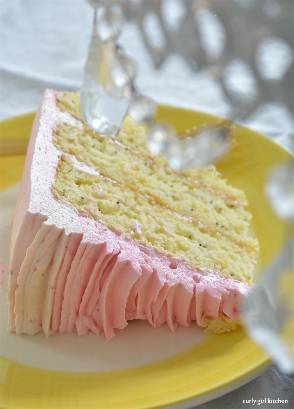 Curly Girl Kitchen: Lemon Poppyseed Cake with Strawberry ...