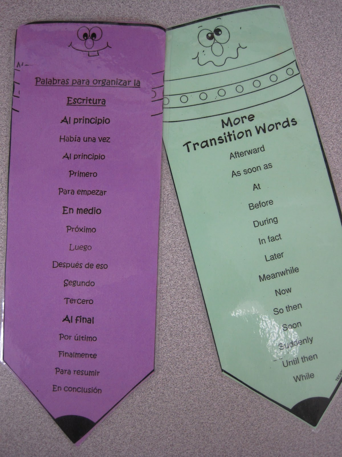 The Second Grade Superkids Transition Words