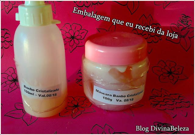 Banho Cristalizado Morgane ( Shampoo e Mascara)