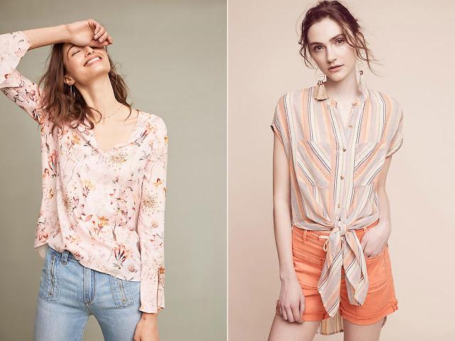 Сочетание персикового и желтого в одежде