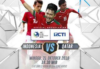 Jadwal Siaran Langsung Indonesia vs Qatar - Piala AFC U-19 2018