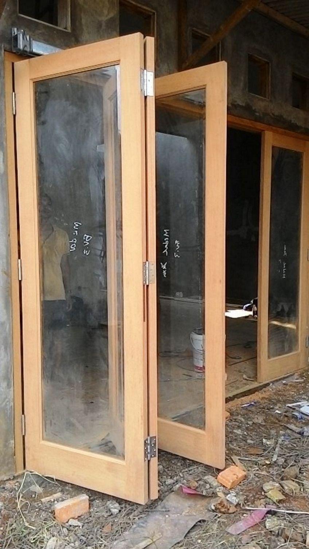 pintu dorong kayu 2
