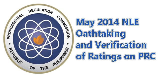May 2014 NLE Oathtaking and Verification of Ratings on PRC