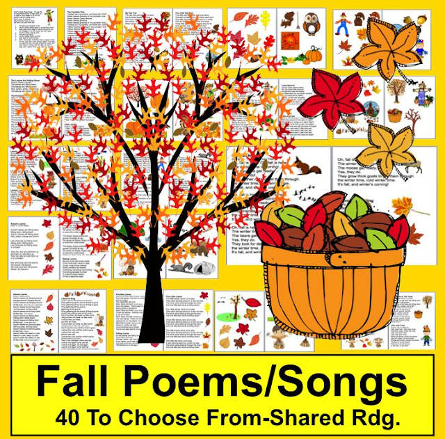 https://www.teacherspayteachers.com/Product/Fall-Activites-Poems-Songs-and-Finger-Plays-for-Autumn-Shared-Reading-323947