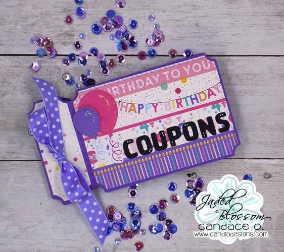 candi o designs happy birthday coupon book card