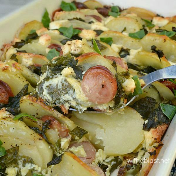 Spinach and Sausage Potato Bake